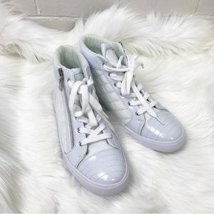 {G By Guess} White Hightop Sneakers